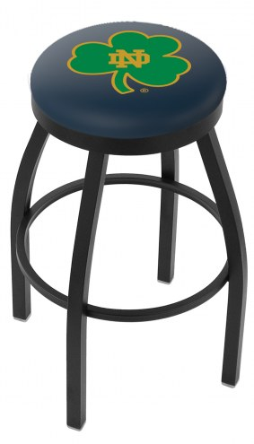 Notre Dame Fighting Irish NCAA Black Swivel Bar Stool with Accent Ring