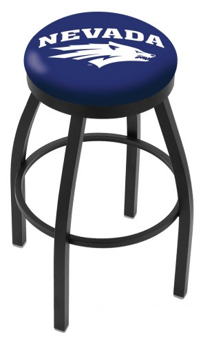 Nevada Wolf Pack Black Swivel Bar Stool with Accent Ring
