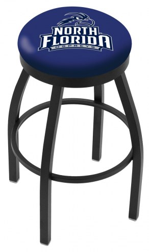 North Florida Ospreys Black Swivel Bar Stool with Accent Ring