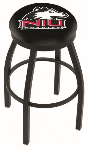 Northern Illinois Huskies Black Swivel Bar Stool with Accent Ring