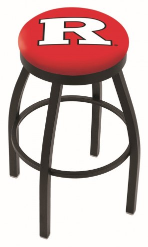 Rutgers Scarlet Knights Black Swivel Bar Stool with Accent Ring