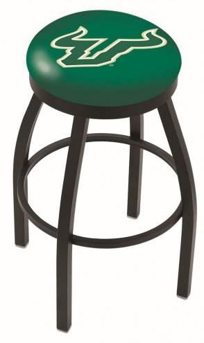 South Florida Bulls Black Swivel Bar Stool with Accent Ring