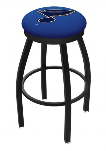 St. Louis Blues Black Swivel Bar Stool with Accent Ring