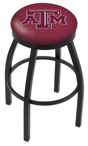 Texas A&M Aggies Black Swivel Bar Stool with Accent Ring