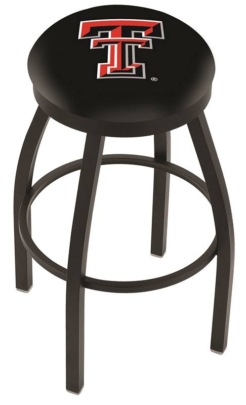 Texas Tech Red Raiders Black Swivel Bar Stool With Accent Ring