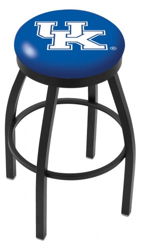 Kentucky Wildcats Black Swivel Bar Stool with Accent Ring