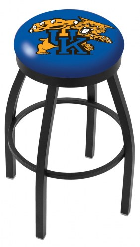 Kentucky Wildcats NCAA Black Swivel Bar Stool with Accent Ring