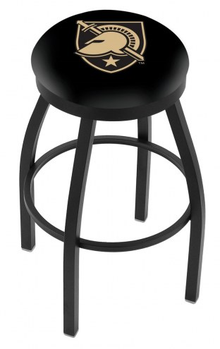 Army Black Knights Black Swivel Bar Stool with Accent Ring