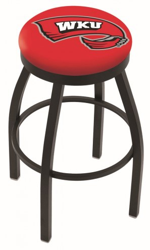 Western Kentucky Hilltoppers Black Swivel Bar Stool with Accent Ring