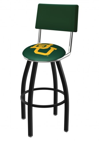 Baylor Bears Black Swivel Bar Stool with Back