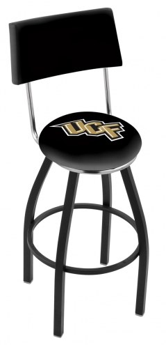 Central Florida Knights Black Swivel Bar Stool with Back