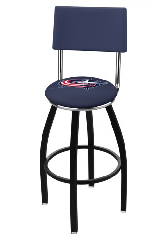 Columbus Blue Jackets Black Swivel Bar Stool with Back