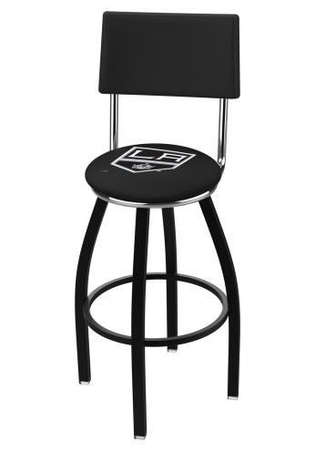 Los Angeles Kings Black Swivel Bar Stool with Back