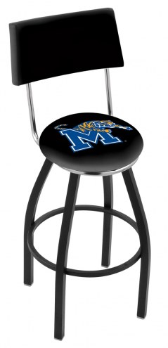 Memphis Tigers Black Swivel Bar Stool with Back