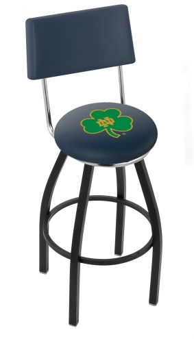 Notre Dame Fighting Irish NCAA Black Swivel Bar Stool with Back