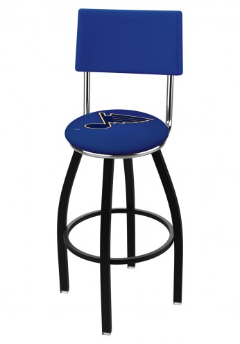St. Louis Blues Black Swivel Bar Stool with Back
