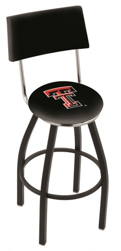Texas Tech Red Raiders Black Swivel Bar Stool with Back