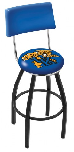 Kentucky Wildcats NCAA Black Swivel Bar Stool with Back