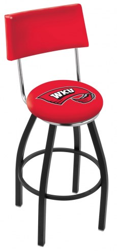 Western Kentucky Hilltoppers Black Swivel Bar Stool with Back