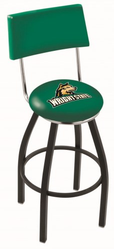Wright State Raiders Black Swivel Bar Stool with Back