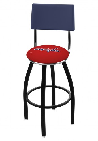 Washington Capitals Black Swivel Bar Stool with Back