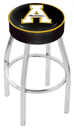 "Appalachian State Mountaineers 4"" Cushion Seat with Chrome Base Swivel Barstool"