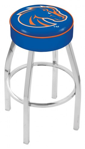 "Boise State Broncos 4"" Cushion Seat with Chrome Base Swivel Barstool"