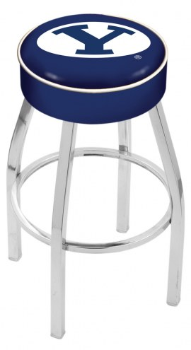 "BYU Cougars 4"" Cushion Seat with Chrome Base Swivel Barstool"