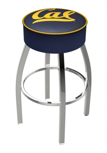 "California Golden Bears 4"" Cushion Seat with Chrome Base Swivel Barstool"