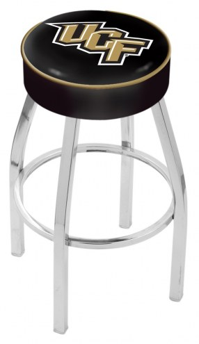 """Central Florida Knights 4"""" Cushion Seat with Chrome Base Swivel Barstool"""