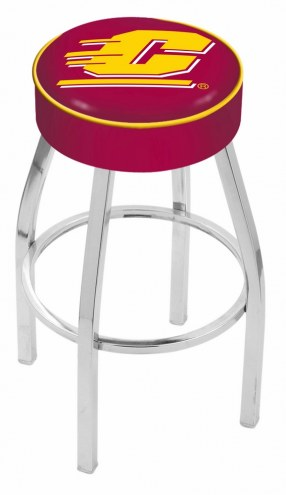 """Central Michigan Chippewas 4"""" Cushion Seat with Chrome Base Swivel Barstool"""