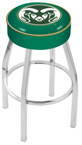 "Colorado State Rams 4"" Cushion Seat with Chrome Base Swivel Barstool"