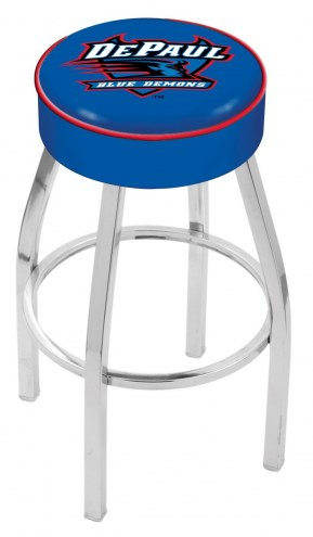 "DePaul Blue Demons 4"" Cushion Seat with Chrome Base Swivel Barstool"