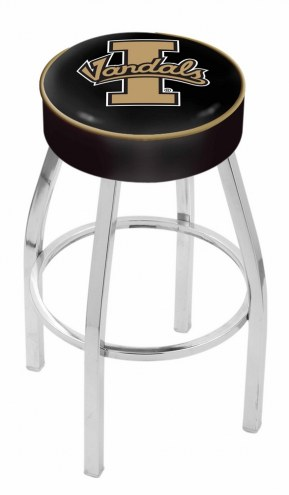 "Idaho Vandals 4"" Cushion Seat with Chrome Base Swivel Barstool"