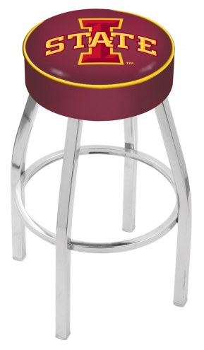 "Iowa State Cyclones 4"" Cushion Seat with Chrome Base Swivel Barstool"