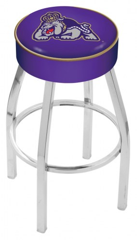 "James Madison Dukes 4"" Cushion Seat with Chrome Base Swivel Barstool"