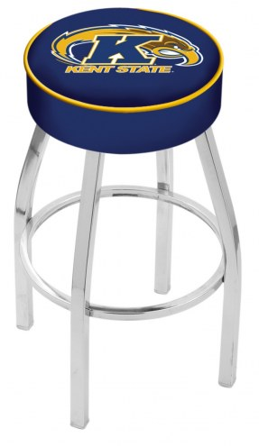 "Kent State Golden Flashes 4"" Cushion Seat with Chrome Base Swivel Barstool"