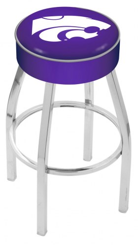"Kansas State Wildcats 4"" Cushion Seat with Chrome Base Swivel Barstool"
