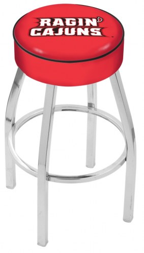 "Louisiana Lafayette Ragin' Cajuns 4"" Cushion Seat with Chrome Base Swivel Barstool"