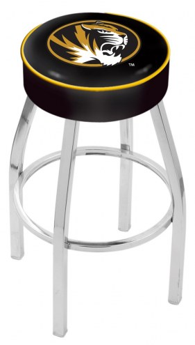 "Missouri Tigers 4"" Cushion Seat with Chrome Base Swivel Barstool"