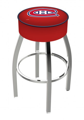 """Montreal Canadiens 4"""" Cushion Seat with Chrome Base Swivel Barstool"""