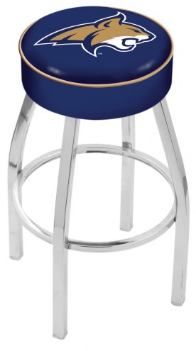 "Montana State Bobcats 4"" Cushion Seat with Chrome Base Swivel Barstool"