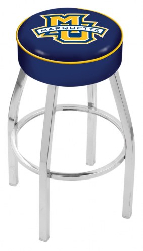 "Marquette Golden Eagles 4"" Cushion Seat with Chrome Base Swivel Barstool"