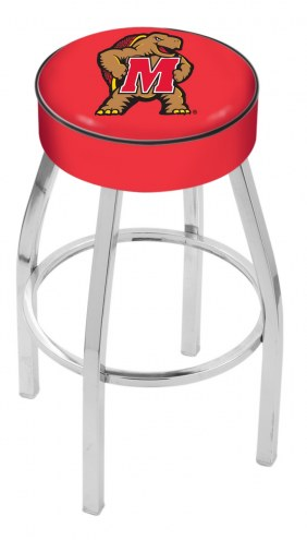 "Maryland Terrapins 4"" Cushion Seat with Chrome Base Swivel Barstool"