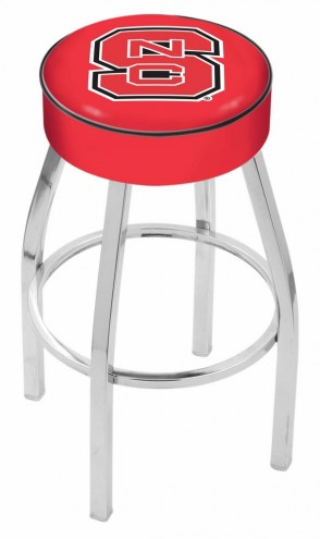 "North Carolina State Wolfpack 4"" Cushion Seat with Chrome Base Swivel Barstool"