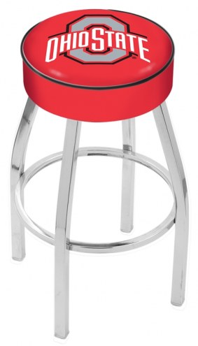 "Ohio State Buckeyes 4"" Cushion Seat with Chrome Base Swivel Barstool"