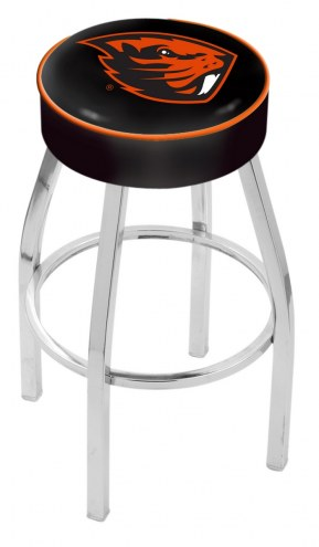 "Oregon State Beavers 4"" Cushion Seat with Chrome Base Swivel Barstool"