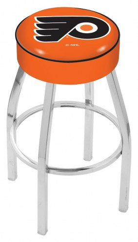 "Philadelphia Flyers NHL 4"" Cushion Seat with Chrome Base Swivel Barstool"