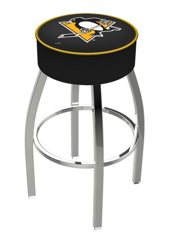 "Pittsburgh Penguins 4"" Cushion Seat with Chrome Base Swivel Barstool"