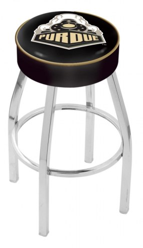 "Purdue Boilermakers 4"" Cushion Seat with Chrome Base Swivel Barstool"